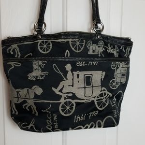 Coach horse and carriage shoulder bag